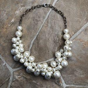 LOFT Faux Pearl Bauble Necklace